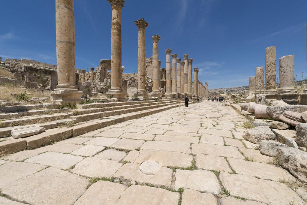 Jerash Xvi Cardo Maximus Midle Section View Still Pav Flickr