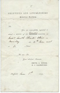 Sheffield  and Lincolnshire Junction Railway Letterhead 1844   by ian.dinmore