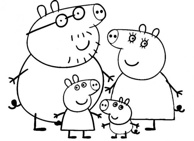 Blog Desenhos Do Peppa Pig Para Colorir Pintar Imprimir D Flickr