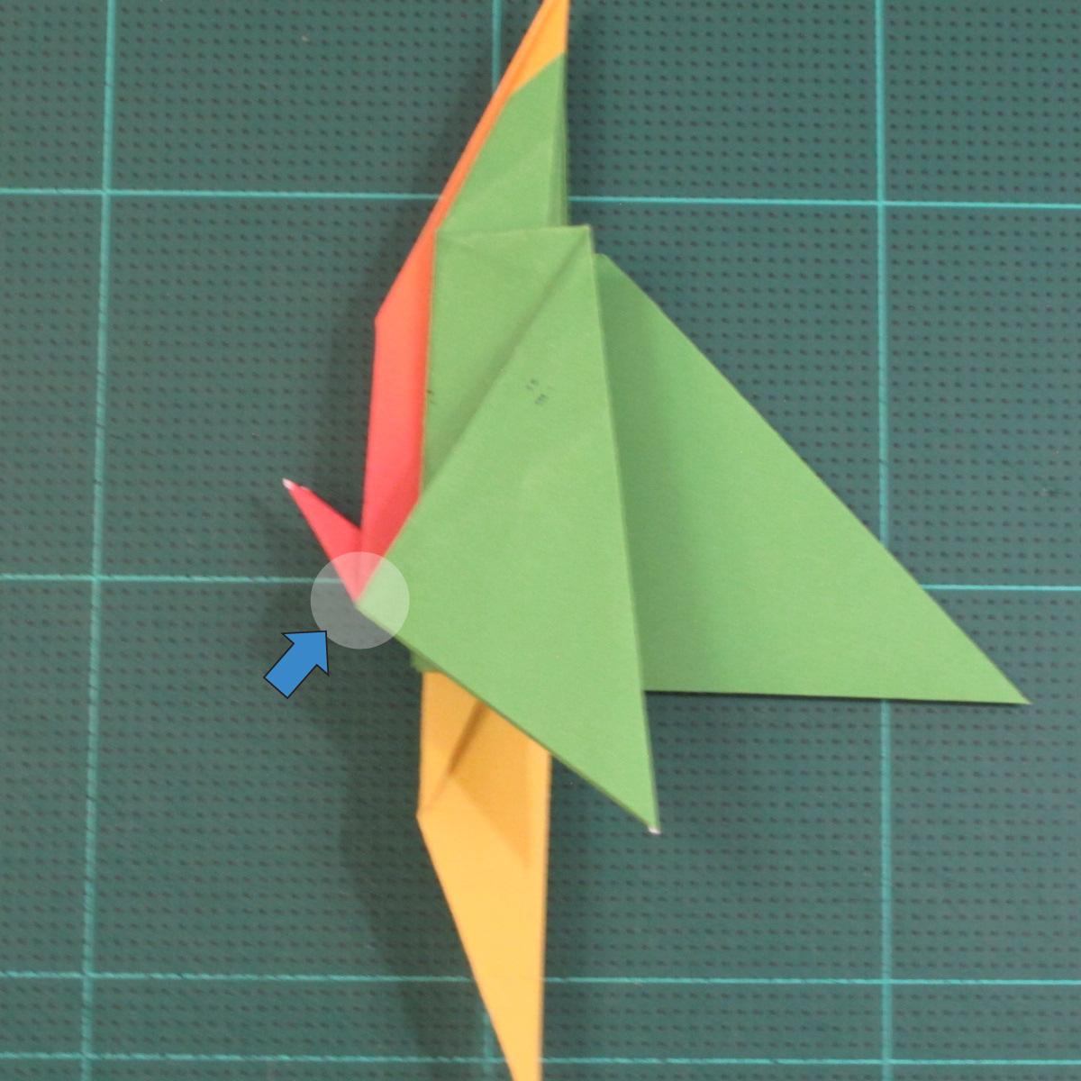 วิธีพับกระดาษเป็นรูปนกแก้ว (Origami Parrot) 030
