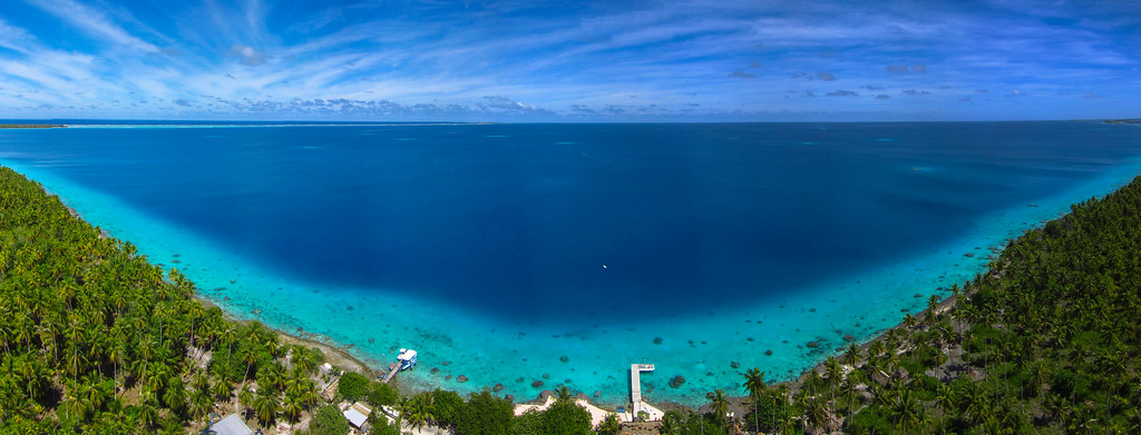 Check Out This Awesome Panoramic Kite >> Raimiti Fakarava Seen From A Kite Stitched Panorama Gro Flickr