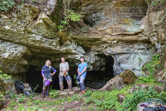 Entrance, Pilot Knob Cave, Jackson County, Tennessee