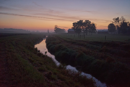 morning ohio mist reflection field fog creek sunrise early haze farm soybean annaoh sonya7r sel35f28z ilce7r