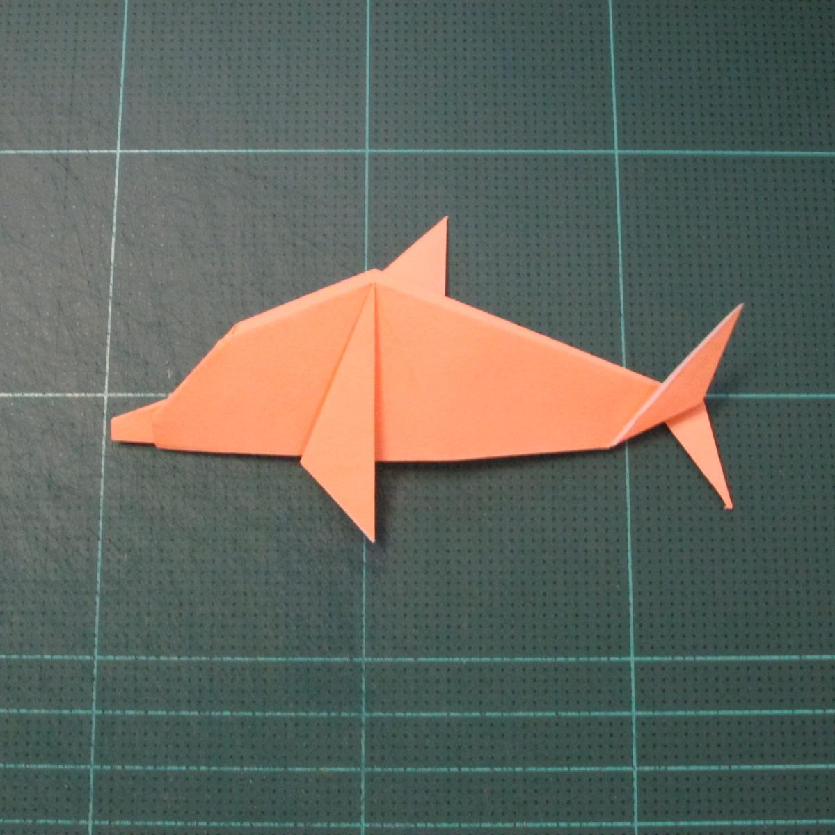 วิธีพับกระดาษเป็นรูปปลาโลมาแบบง่าย (Easy Origami Dolphin) 021