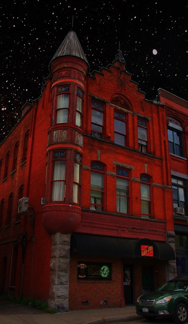 Cortland Ny  ~ Red Jug ~ Night ~ 31 Central Ave. Historic  District