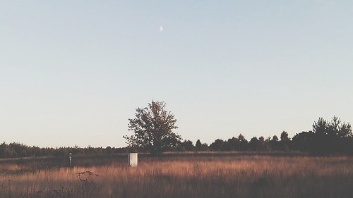 sunset moon dusk
