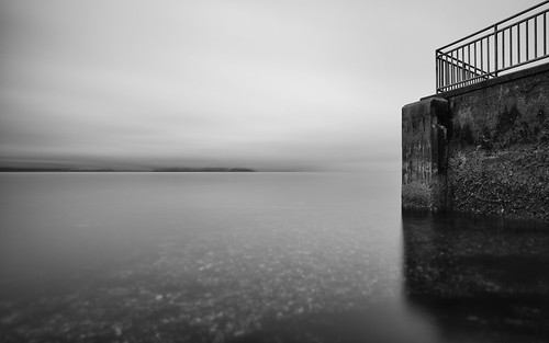 blackandwhite longexposure seattle contrast water waterscape canoneos5dmarkiii bwnd1000x pacificnorthwest smooth canonef2470mmf28lusm monochrome