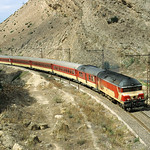 DF 113 ONCF + express train TGR2 from Tanger to Fes on 5 October 1998