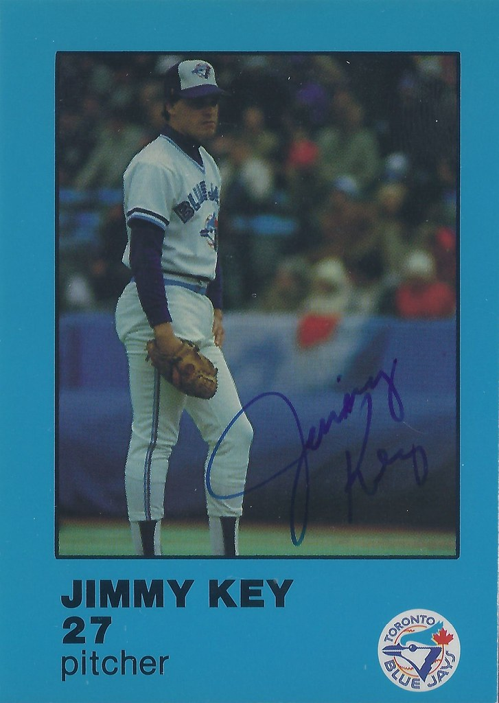 1984 Fire Safety Jimmy Key 27 20 Pitcher Autog