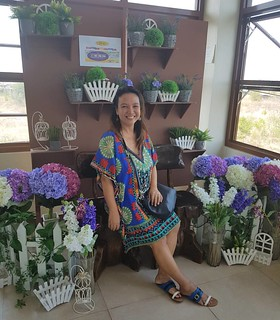 Their flower iinterior matches to my outfit. #RoadTripToPangasinan #Travel #FoodieTraveller | by Jinkee Umali