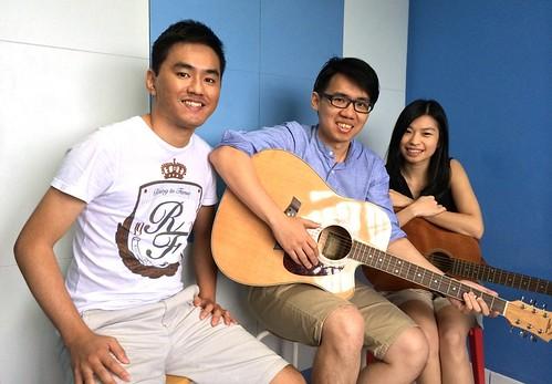Group guitar lessons Singapore Mervin Stephanie