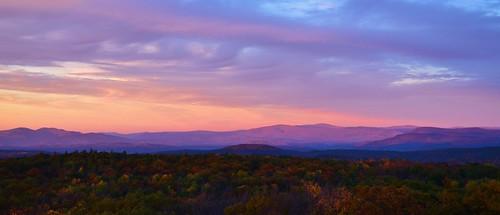 trees sunset newyork mountains green fall clouds vermont view purple ryan upstate upstatenewyork bennington grafton grennan graftonlakesstatepark rgrennan