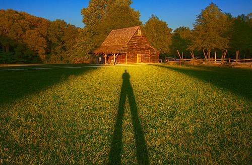 sunset shadow photoshop cabin maryland salisbury lightroom thecabin photomatix pembertonhistoricalpark ericbwalker premierehdr