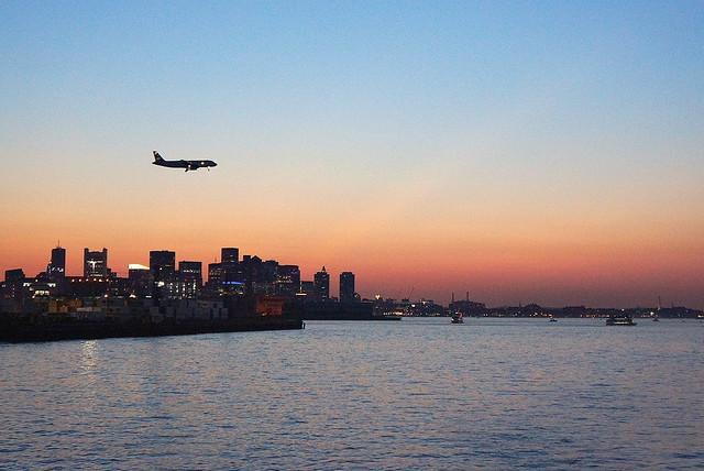 Sunset in Boston Harbor