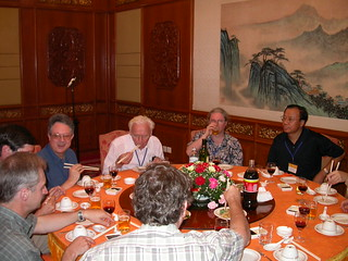5th ISH Conference, Gibson, Brothers, Boucek, Carpenter and Da-Wei Huang at Farewell dinner at Beijing Quanjude Roast Duck Restaurant (全聚德烤鸭和平门店), Hepingmen Branch, Beijing, China