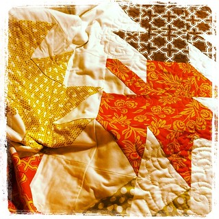 Modern Maple Leaves  - saturday's  project. #modernmapleleaf  #fallfoliage #janome