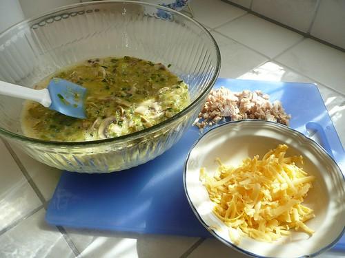 09.11.14 An Eggcellent Dinner post - bowl, chicken, cheese