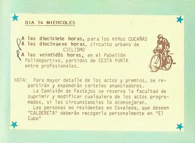 Programa Fiestas de San Lorenzo Año 1985