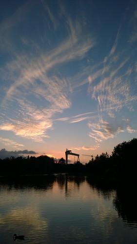 park sky evening belfast victoria northernireland ccg connswaterriver connswatercommunitygreenway