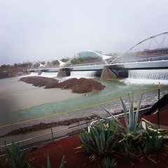 Tempe Town Lake is taking a beating this morning...