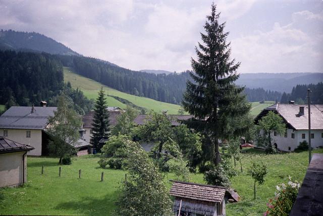 Russbach am Paß Gschütt, August 1987.