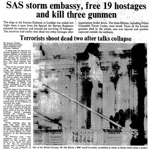 5th May 1980 - SAS storm the Iranian embassy | by Bradford Timeline