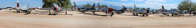 Early USAF Jet Fighter Row