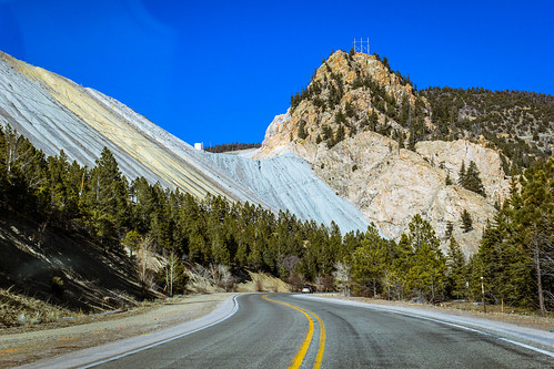 road trees mountain newmexico forest highway rocks driving rocky mining dirt material taos redriver curved operation slope 38