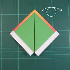 วิธีพับกระดาษเป็นรูปนกแก้ว (Origami Parrot) 008