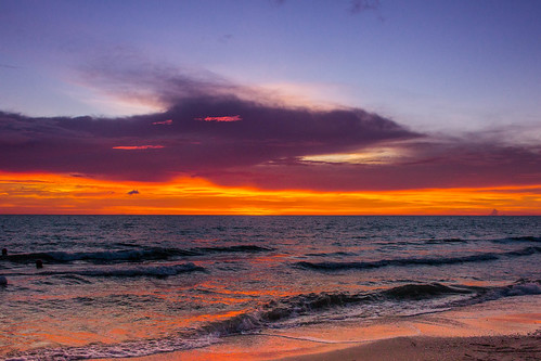 sunset sky sun beach