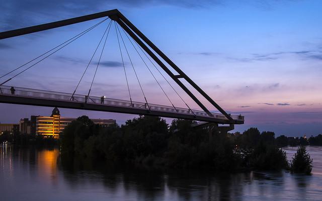 skywalk across the river