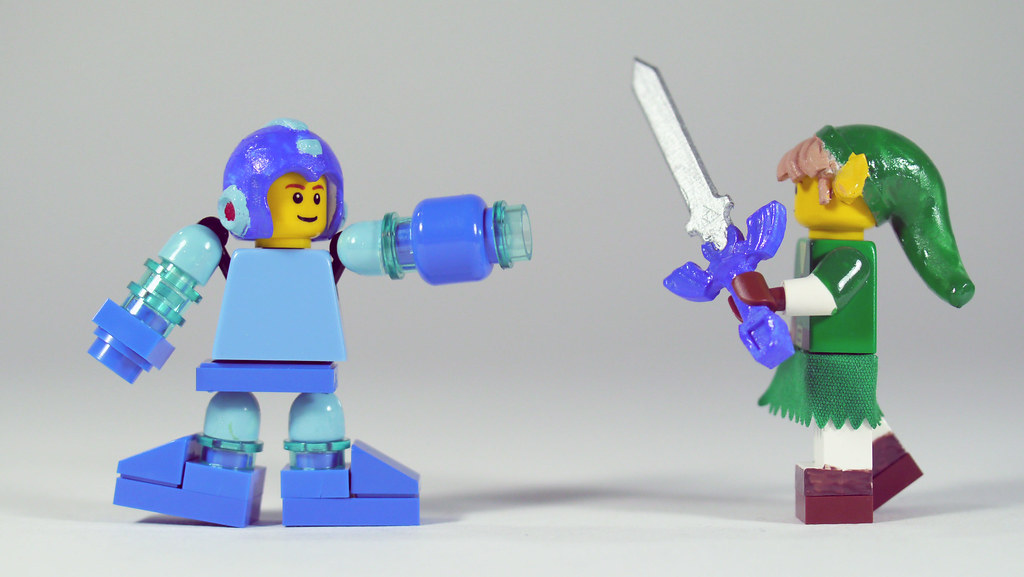 LEGO Mega Man vs Link | See how to build it: www youtube com… | Flickr