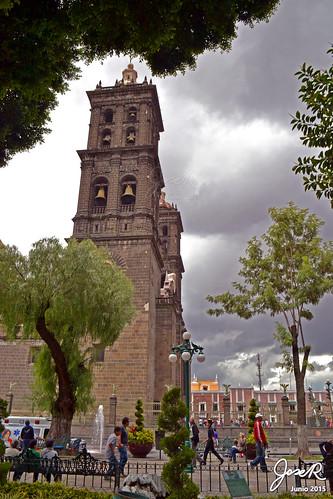 La Catedral desde el Zócalo.