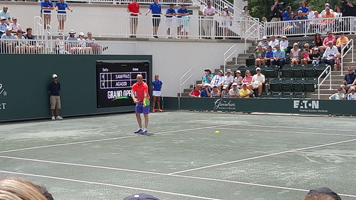 Agassi-Sampras match at The Greenbrier | by tennis buzz