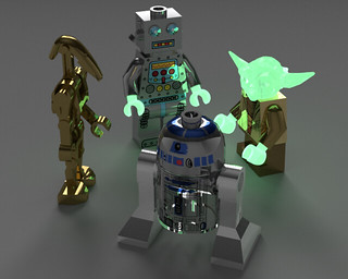 Mecabricks to Blender _glow in the dark | by Nachapon S.