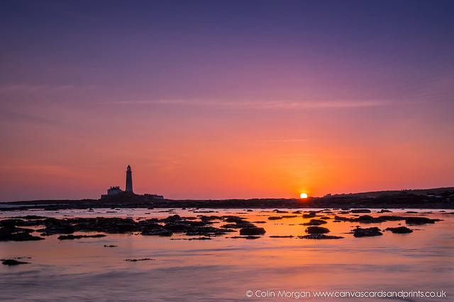 Sun Rise at St Mary's Lighthouse (Explored)
