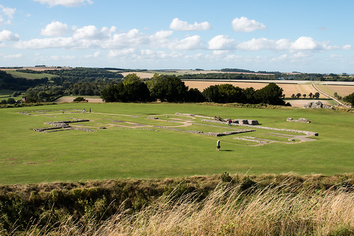 oldsarum cathedral castle bailey ditch fort ruins remains site plan heritage landscape salisbury wiltshire england