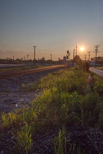 railroad sky sun clouds train sunrise canon md maryland rail 1740mm 5dmarkii