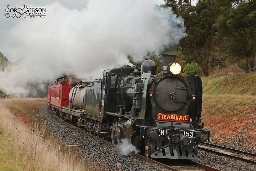 Steamrail K153 return trip from Traralgon by Corey Gibson