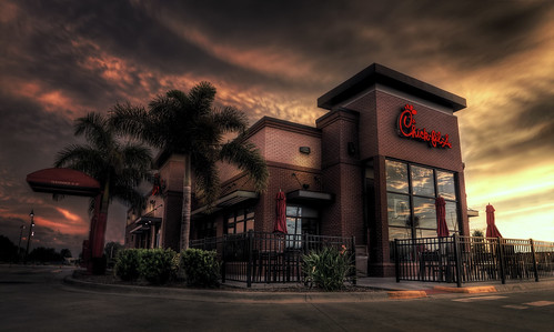 sunset florida sunday fastfood chickfila winterhaven