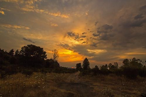 sunset sun nature oregon rainieroregon