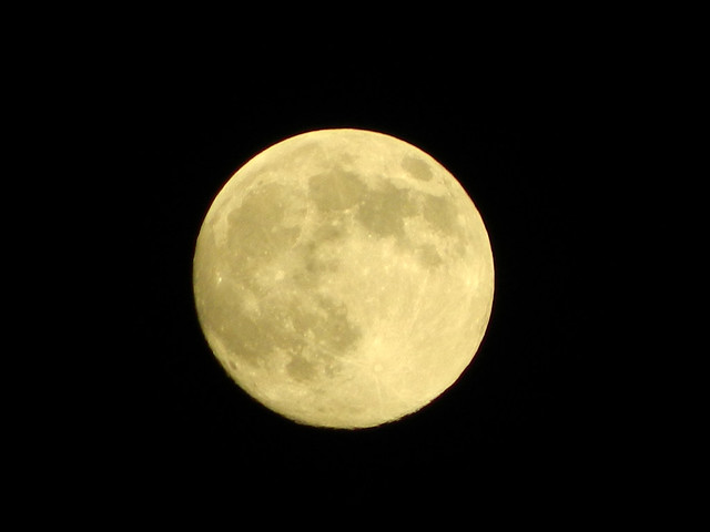 The lonely Supermoon August 10, 2014