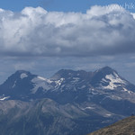 Vulture Peak looms large behind Swiftcurrent Lookout