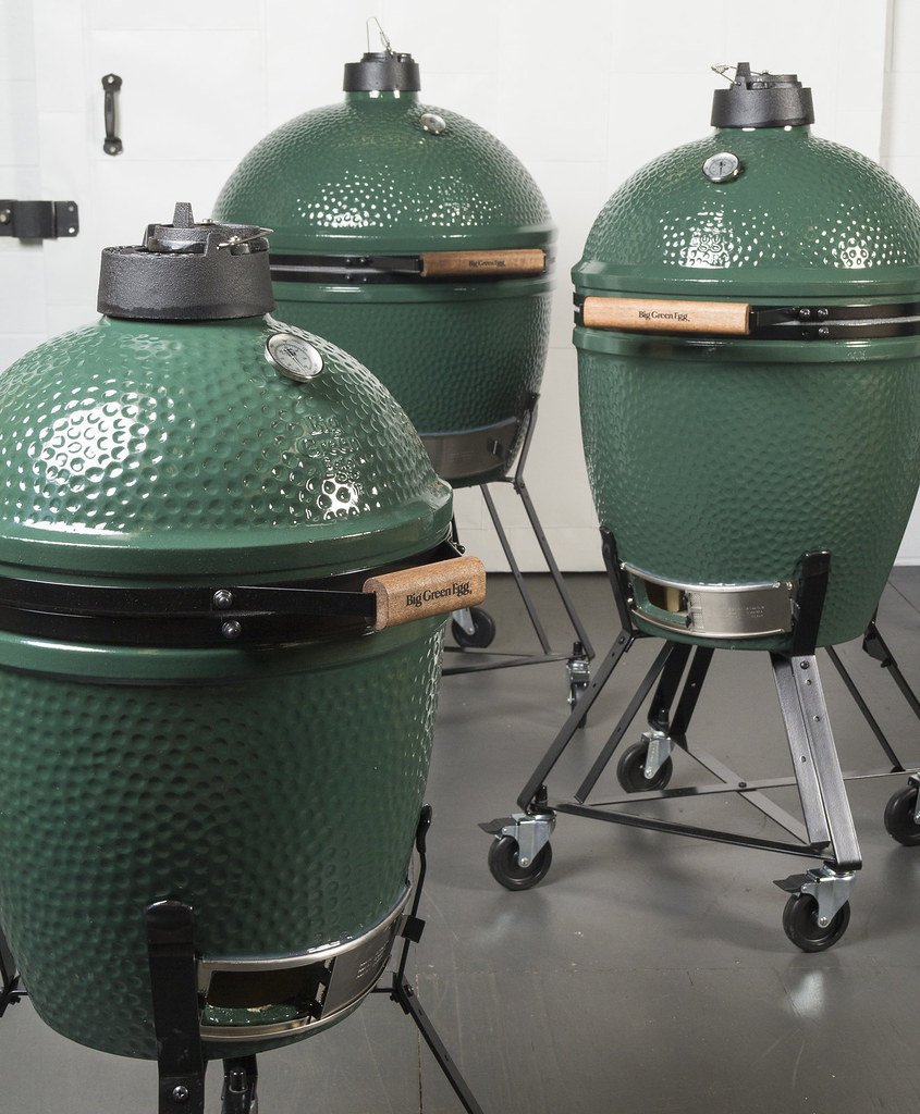 THREE SIZES OF THE BIG GREEN EGG OUTDOOR GRILL AT LOCAL RO FLICKR