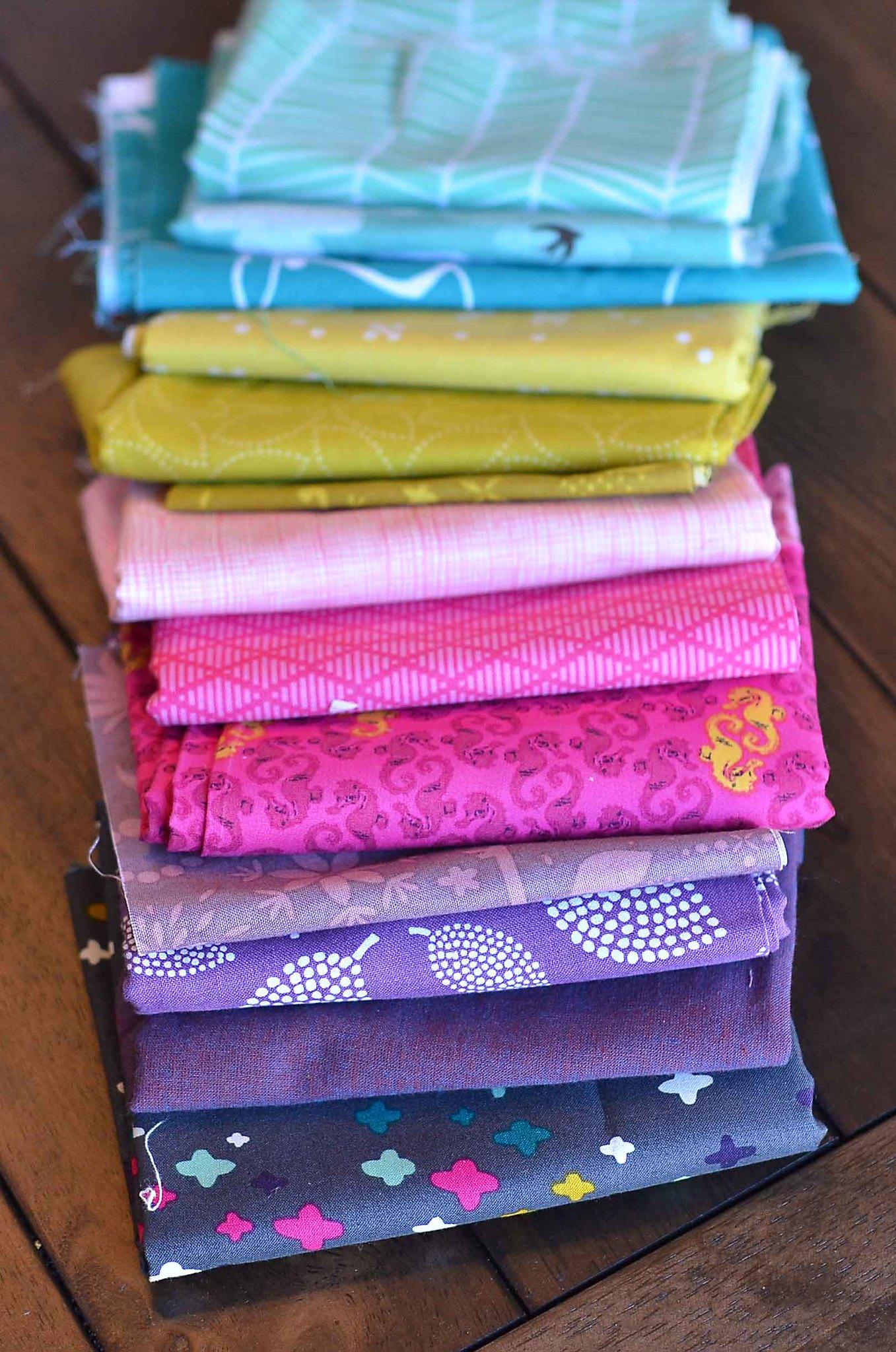 mini quilt swap fabrics?