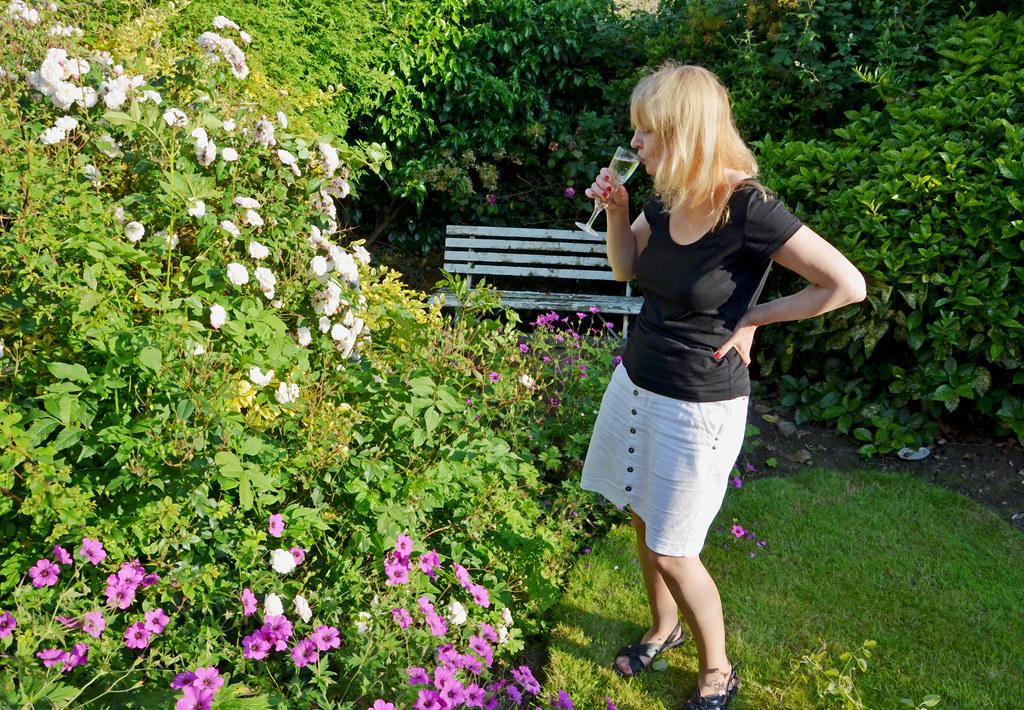 Judy in the Garden