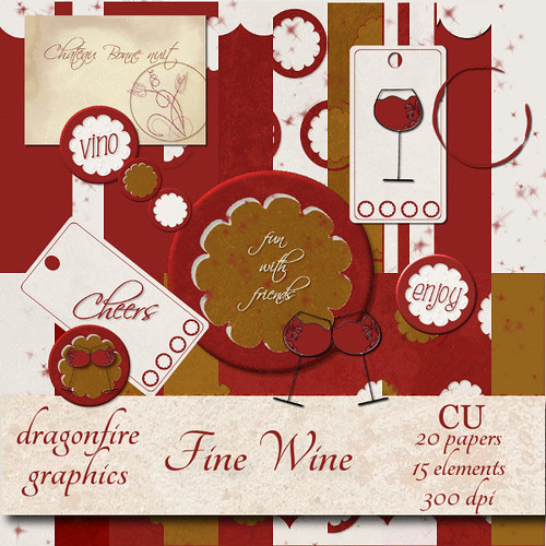Fine Wine Commercial Use Scrap Kit by Dragonfire Graphics | by Dragonfire Graphics