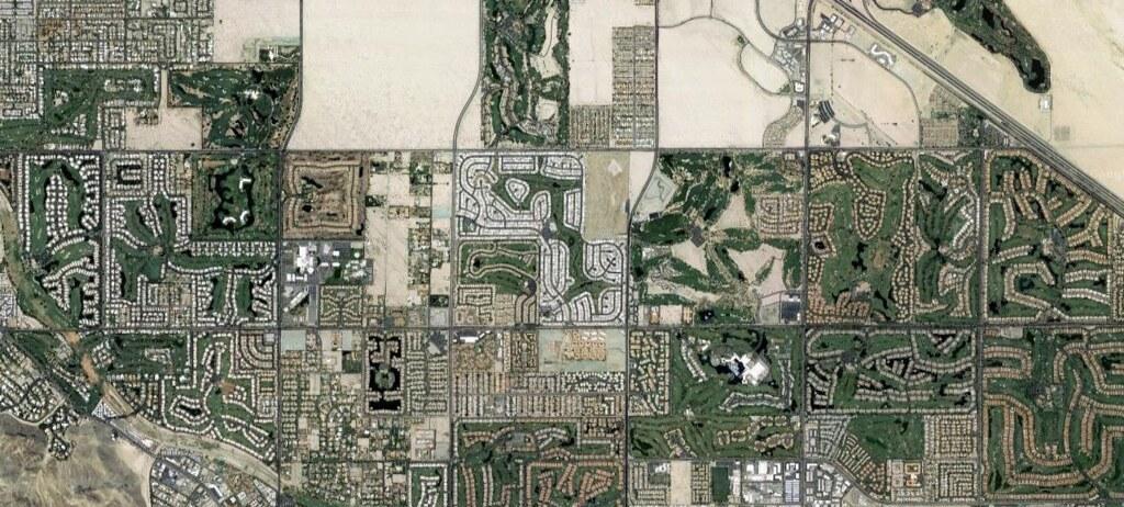 Palm Springs, plan view, map data (c) 2017 Google ...