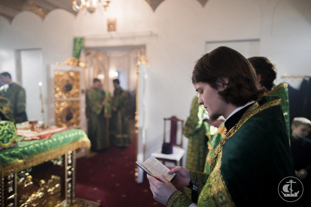 3 апреля 2017, Литургия в день памяти преподобного Серафима Вырицкого / 3 April 2017, Divine Liturgy on the commemoration day of St. Seraphim of Vyritsa