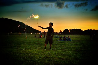 Playing with a sparkler | by volsinohio
